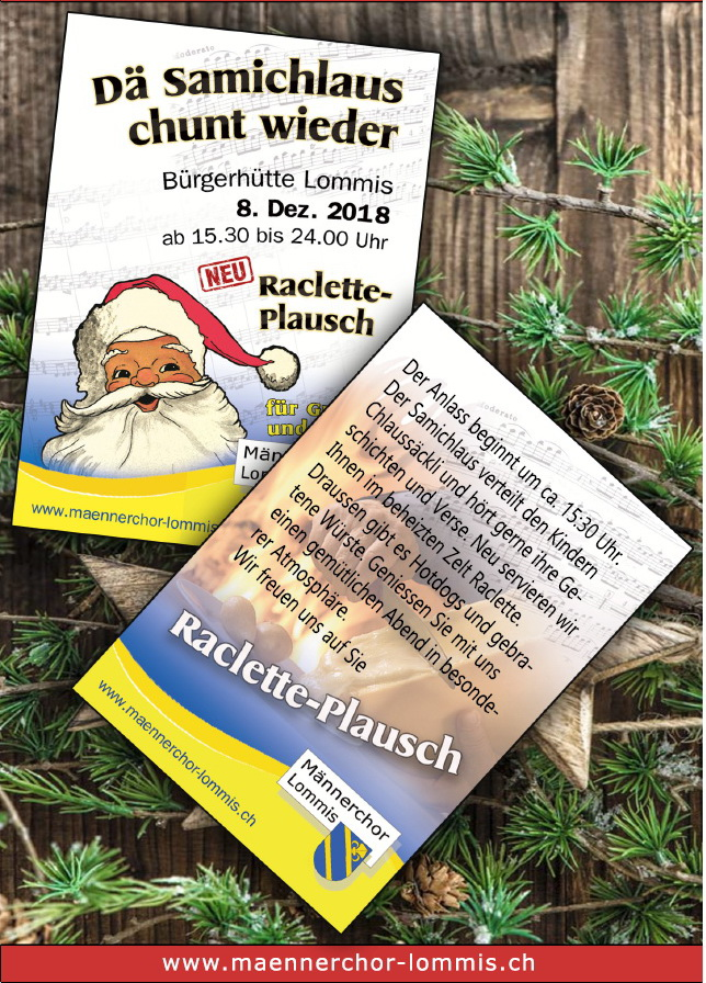 Flyer Samichlaus Lommis